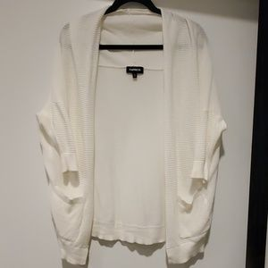 Express White Ribbed Sweater
